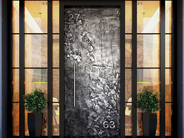 Real Gun Metal Designer Entrance Door by Evolve India - Special Finishes